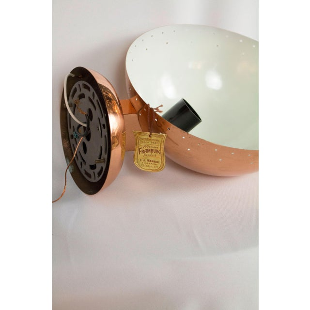 Mid-Century Modern Copper Plated Framburg Sconce For Sale - Image 3 of 4
