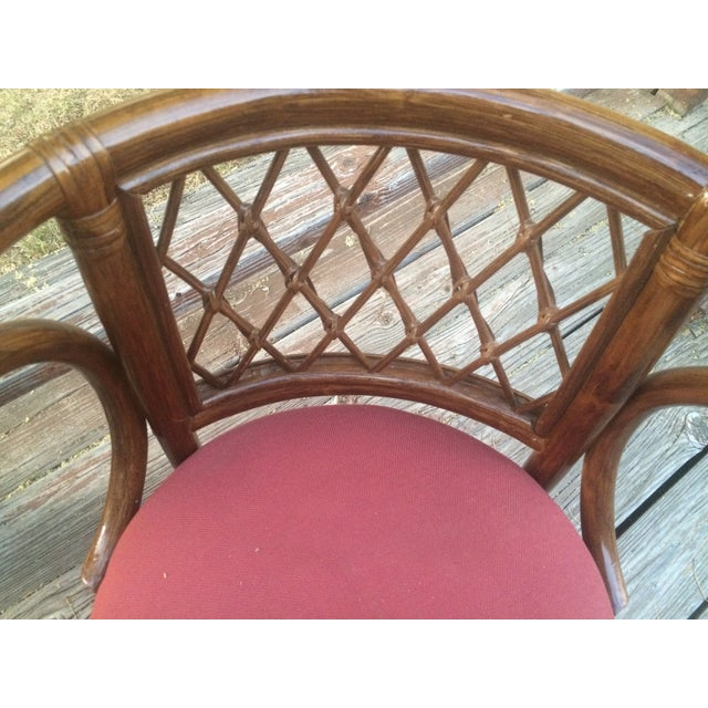Rattan Bamboo Chairs - A Pair - Image 4 of 4