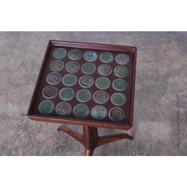Edward Wormley Dunbar Janus Side Table With Natzler Tiles For Sale - Image 10 of 13