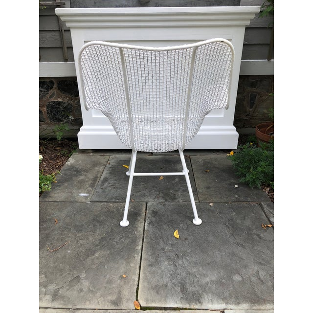 """White 1950s Woodard """"Sculptura"""" White Patio Chairs - a Pair For Sale - Image 8 of 14"""