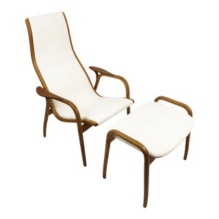Lamino Lounge Chair and Ottoman by Yngve Ekström for Swedese For Sale
