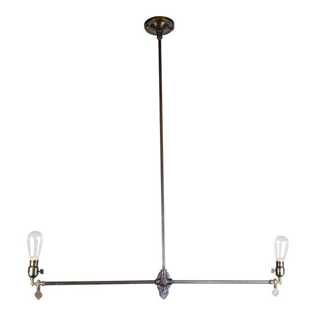 Original Industrial Gas Light Fixture Circa 1885 by Archer & Pancoast - Image 1 of 7