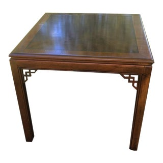 Vintage Drexel Chinese Chippendale Burlwood Table For Sale