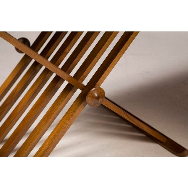Pair of Walnut Folding Campaign Tables by Stewart MacDougall For Sale In New York - Image 6 of 6