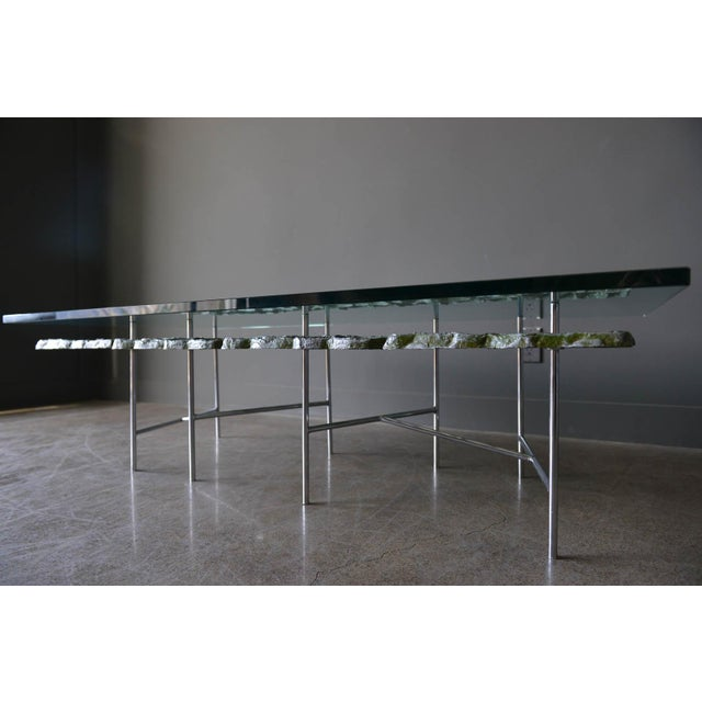 1970s Sculptural Brutalist Coffee Table By Donald Drumm For Sale - Image 9 of 11