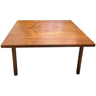 Hans Wegner Square Teak Coffee Table For Sale