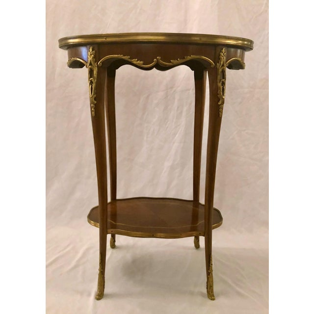 Antique French Napoleon III Mahogany and Ormolu Occasional Table.