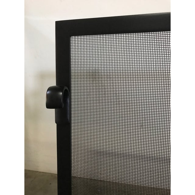 Custom Made Matte Black Metal Fire Screen - Image 4 of 6