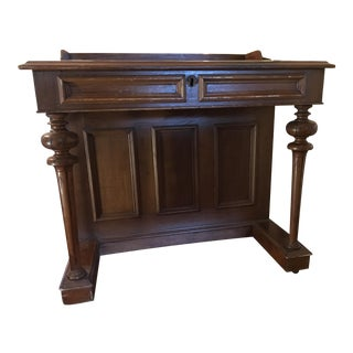 19th Century Victorian Walnut Davenport Desk For Sale