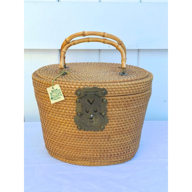 1950s Woven Basket Purse - Image 8 of 8