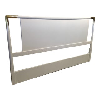 Mid Century Modern Lacquered Wood and Brass Robsjohn-Gibbings for Widdicomb Headboard
