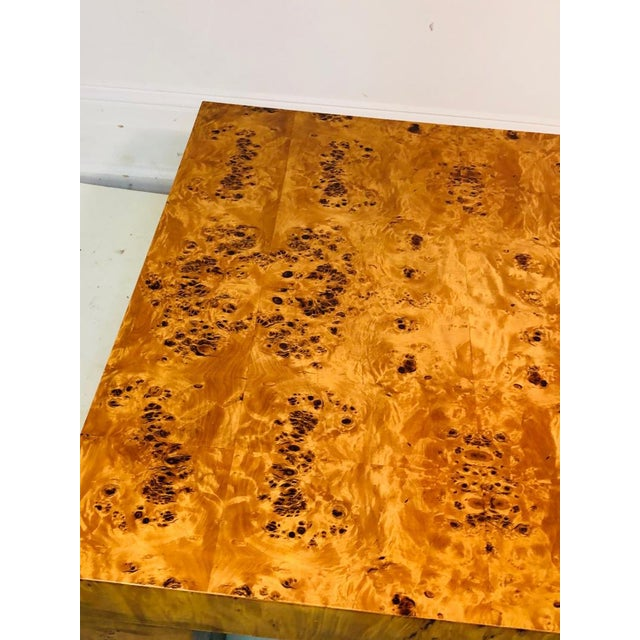 Willy Rizzo Burl Wood Table by Willy Rizzo For Sale - Image 4 of 9