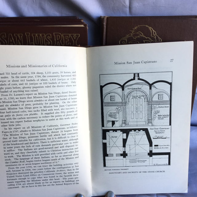 Etching 1921- 1931 California Missions Book Collection - Set of 6 For Sale - Image 7 of 13