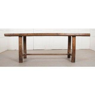 French 19th Century Oak Farmhouse Trestle Table Preview