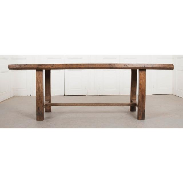 This wonderful oak farmhouse trestle table is, c. 1860's, is from the bucolic French countryside and would add lots of...