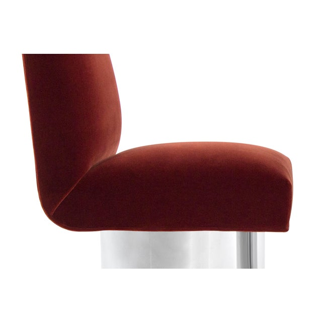 Red Milo Baughman Swivel Chairs on Drum Nickel Bases For Sale - Image 8 of 10