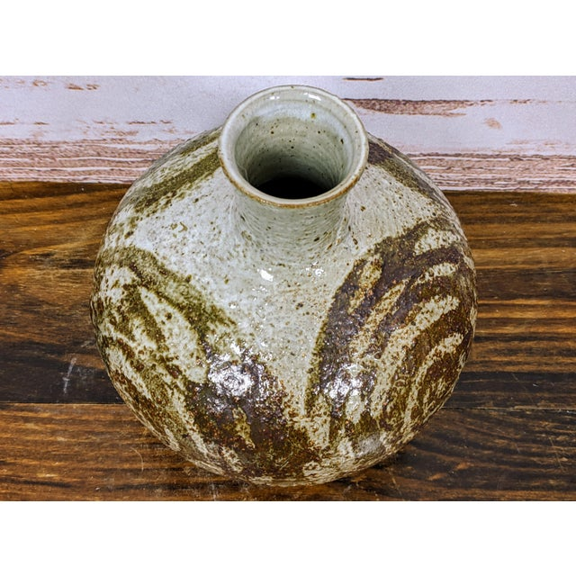 Asian Vintage Mutsuo Yanagihara Studio Pottery Vase For Sale - Image 3 of 6