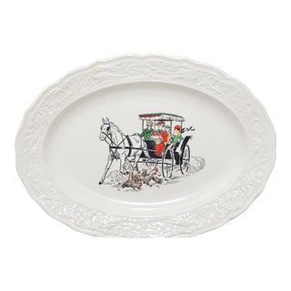Vintage Buggy Design Ceramic Platter For Sale