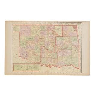 Cram's 1907 Map of Oklahoma