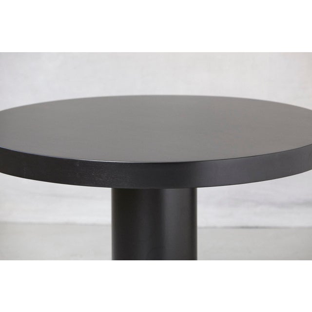 Mid 20th Century Modern Puristic Oak Center Table in New Black Finish, 1960s For Sale - Image 5 of 12