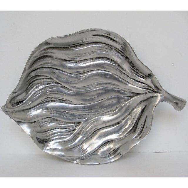 Aluminum Leaf-Shaped Platter - Image 2 of 7