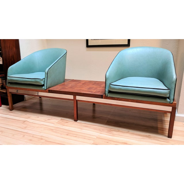 1950s Arthur Umanoff for Madison Furniture Modular Loveseat or Bench With Table For Sale - Image 13 of 13