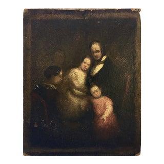 Spanish School : the Rabbi's Family, Ca.1830. For Sale