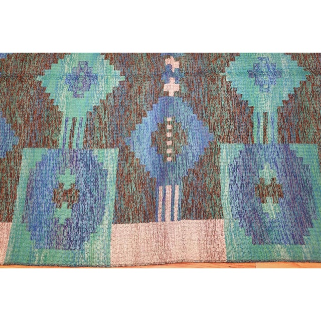 Vintage Double-Sided Swedish or Scandinavian Deco Kilim For Sale In New York - Image 6 of 9