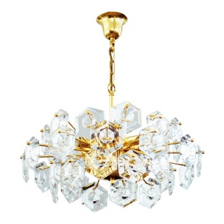 Hexagonal Kinkeldey glass chandelier For Sale