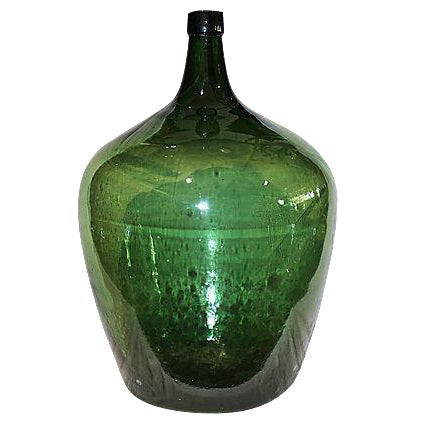 Antique French Demijohn Bottle For Sale