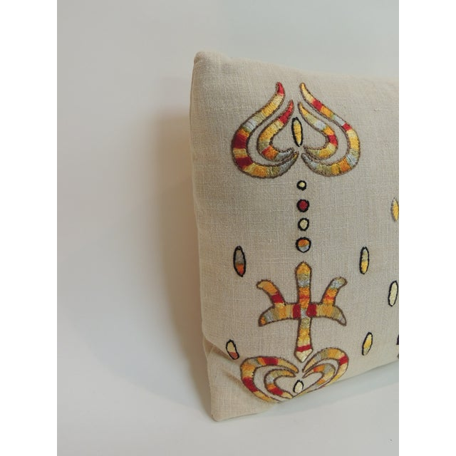 Boho Chic Vintage Turkish Embroidered Lumbar Decorative Pillow For Sale - Image 3 of 5