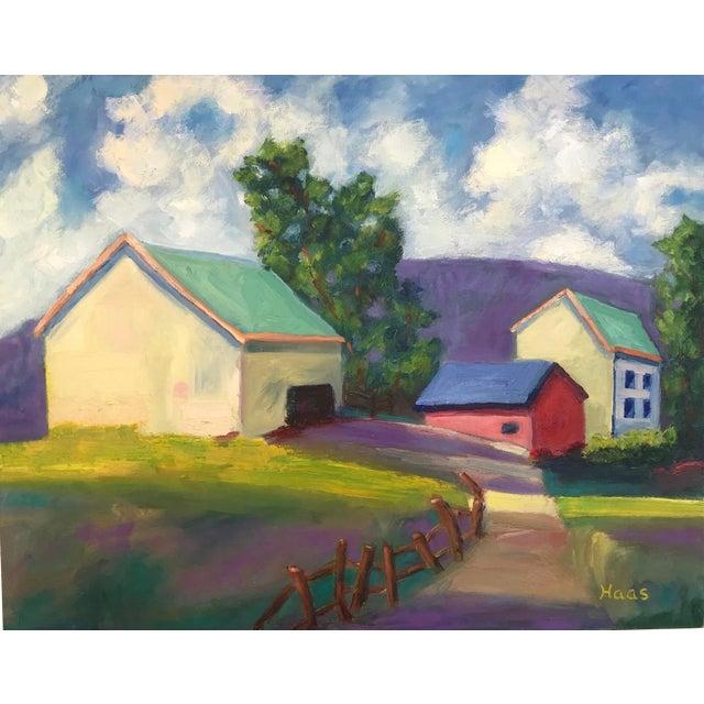 """Original """"Streak of Morning Light"""" Landscape Oil Painting For Sale"""