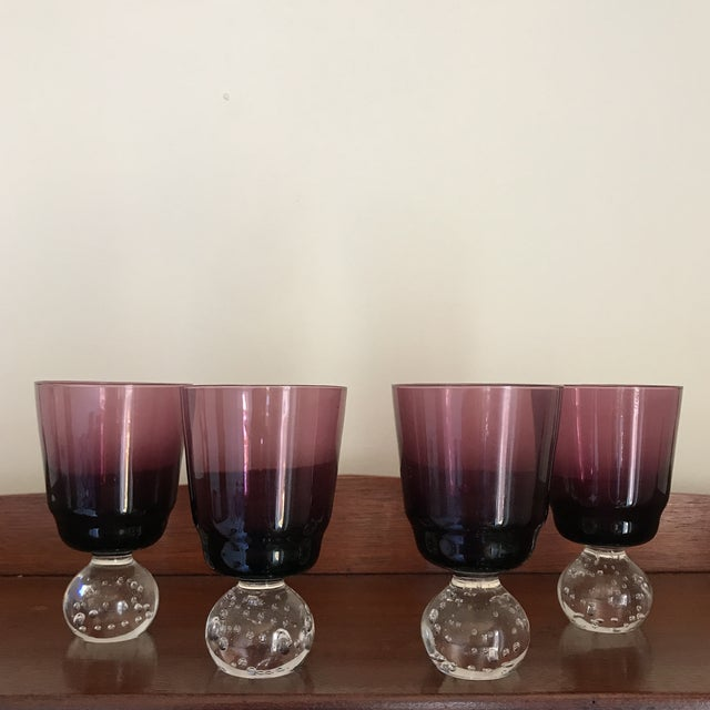 Mid-Century Modern Carl Erickson Amethyst Goblets - Set of 4 For Sale - Image 9 of 9