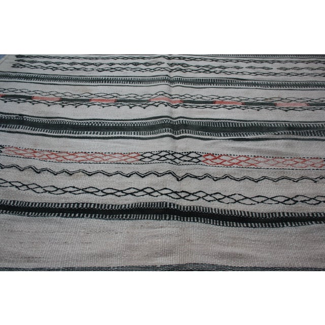 Moroccan Berber Kilim Rug - 10'8'' x 5'10'' For Sale - Image 5 of 8