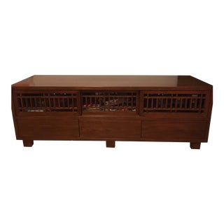 Solid Wood 6-Drawer Media Console For Sale