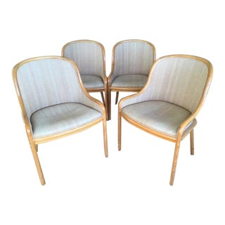 Ward Bennett for Brickel Chairs- Set of 4 For Sale