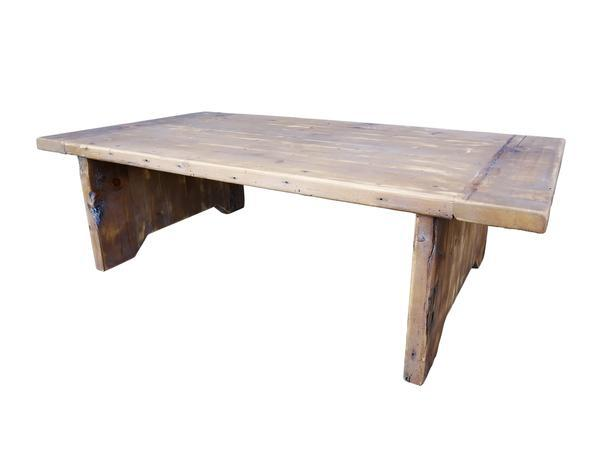 Industrial Darvo Reclaimed Wood Rustic Coffee Table For Sale   Image 3 Of 9