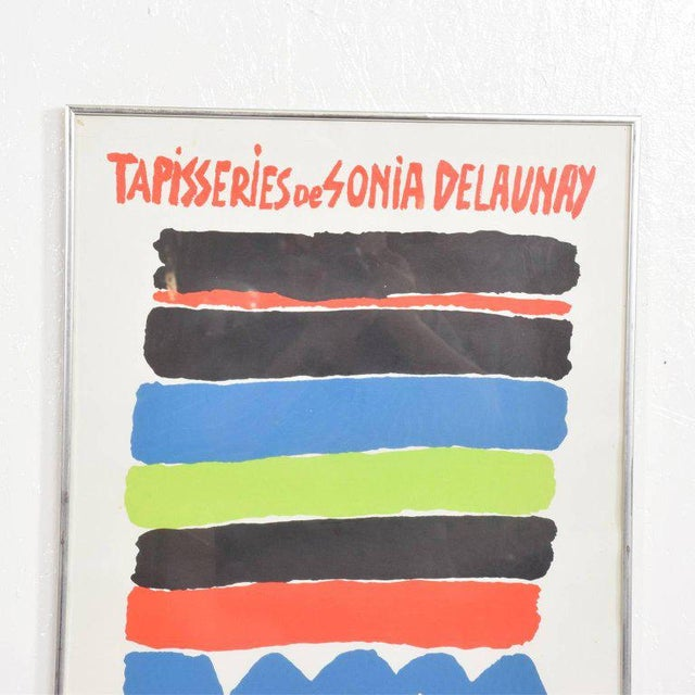 """For your consideration a vintage poster: """"Tapisseries de Sonia Delaunay"""" Art Litho, Paris. Dimensions: 30 1/2"""" H x 20 3/8""""..."""