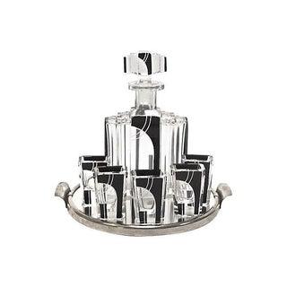 Art Deco Karl Palda Crystal Liquor Set - Set of 7
