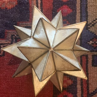Capriz and Brass Star Candle Holder Preview