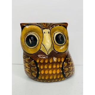Vintage 1960s Sermel Tonala Jal Mexico Folk Art Paper Mache Owl Sculpture Preview