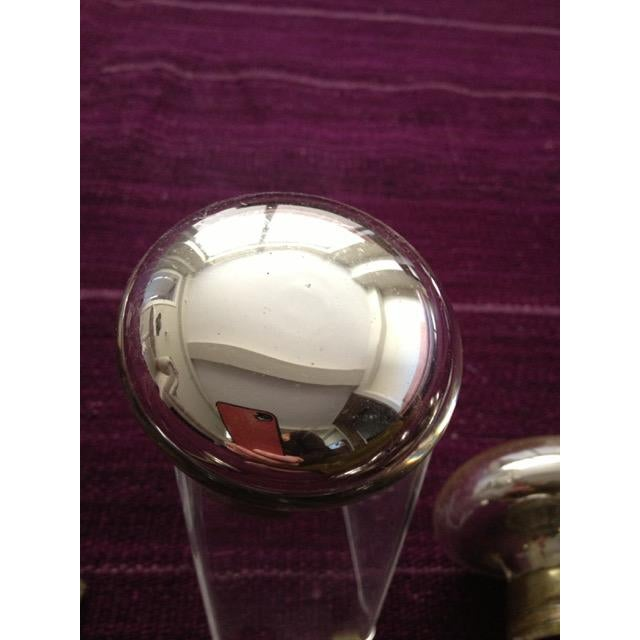 Shabby Chic Mercury Glass Door Knobs - 4 Sets For Sale - Image 3 of 11
