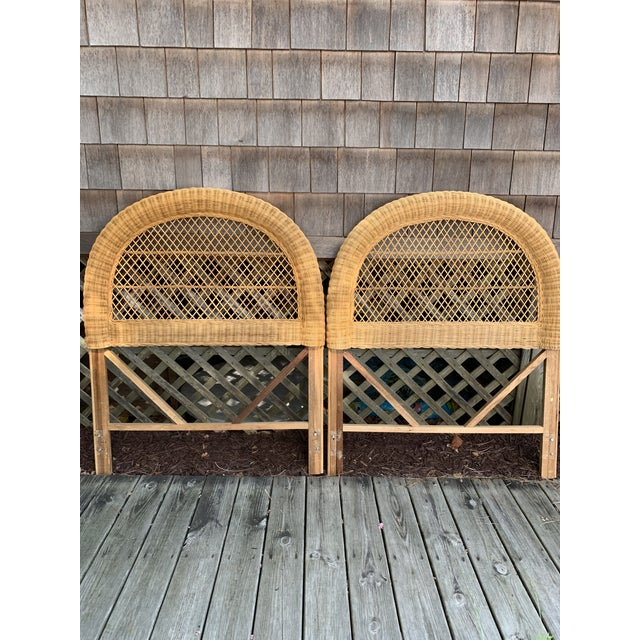 Vintage Wicker Headboards- a Pair For Sale - Image 13 of 13