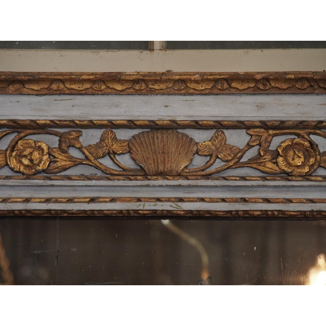 French 19th Century French Painted Mirror For Sale - Image 3 of 7