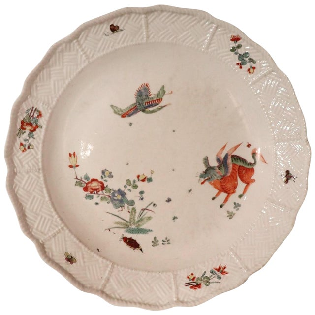 18th Century Porcelain Plate Signed Meissen With Kakiemon Decoration, 1740s For Sale