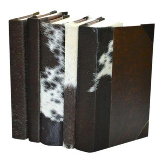 Hide Collection Jersey Cow Books - Set of 5 For Sale