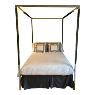 Fabulous 1960's Pace Four Poster Canopy Double / Full Bed For Sale