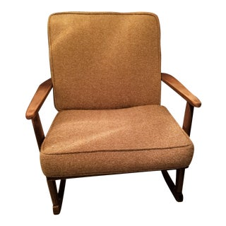 Danish Modern Rocking Lounge Chair For Sale