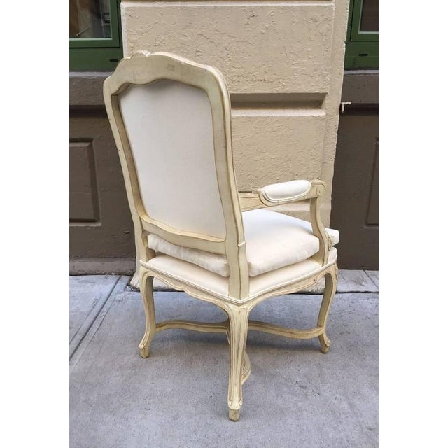 Louis XIV Style Armchairs - A Pair For Sale - Image 4 of 7