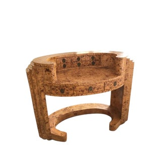 Art Deco Burled Wood Desk